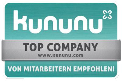 Top Company-Auszeichnung von Kununu