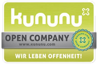 Die Auszeichnung Open Company von Kununu