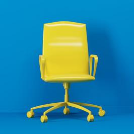 Auf diesem Stuhl nimmt bald ein IT-Experte platz